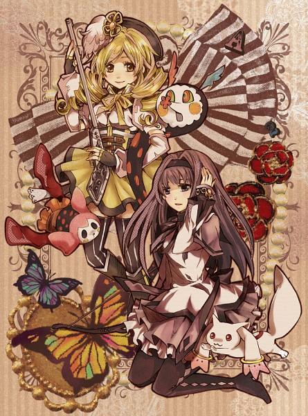 Tags: Anime, Blueblackbarbarian, Mahou Shoujo Madoka☆Magica, Kyubee, Tomoe Mami, Akemi Homura, Charlotte (Madoka Magica)