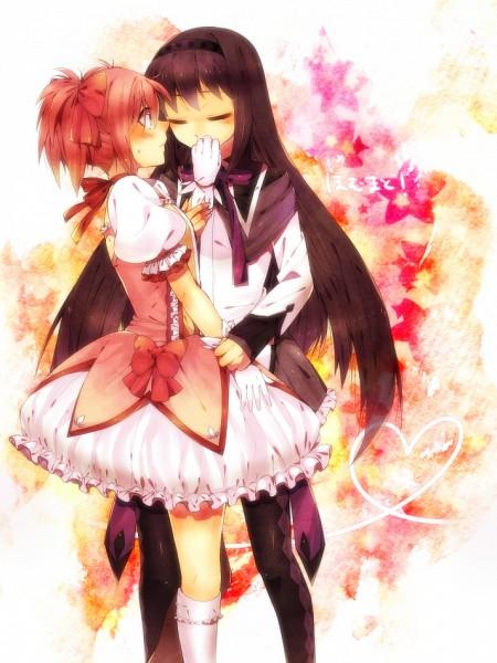 Tags: Anime, Mika (Pixiv385876), Mahou Shoujo Madoka☆Magica, Kaname Madoka, Akemi Homura