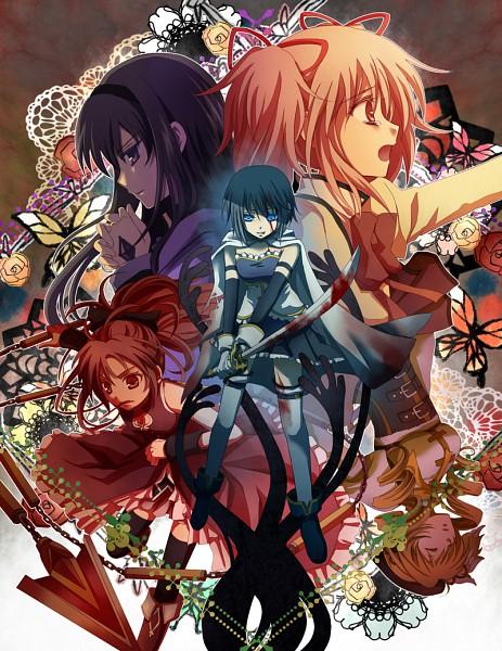 Tags: Anime, Nitou Akane, Mahou Shoujo Madoka☆Magica, Kaname Madoka, Akemi Homura, Sakura Kyouko, Tomoe Mami, Miki Sayaka, Magical Girl Madoka Magica