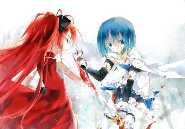 Tags: Anime, Enoki Shiki, Mahou Shoujo Madoka☆Magica, Sakura Kyouko, Miki Sayaka, Magical Girl Madoka Magica