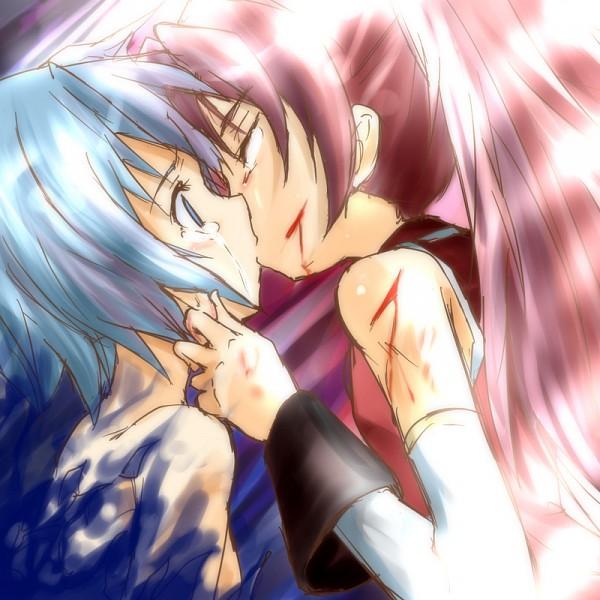 Tags: Anime, Urutsu Sahari, Mahou Shoujo Madoka☆Magica, Sakura Kyouko, Miki Sayaka, Magical Girl Madoka Magica