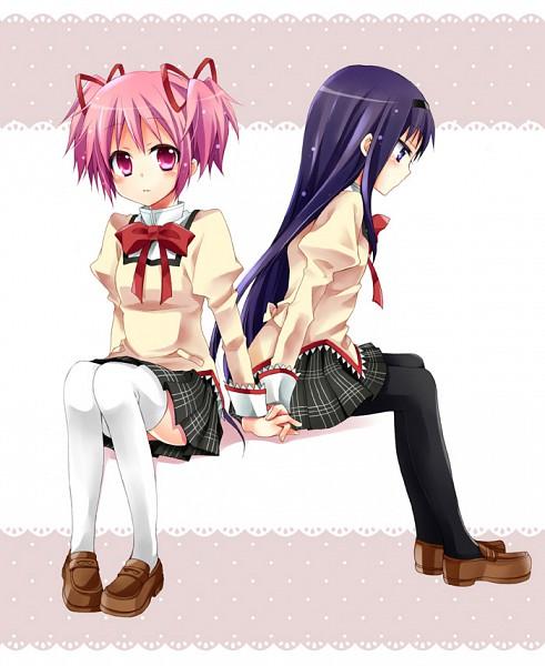 Tags: Anime, Kubyou Azami, Mahou Shoujo Madoka☆Magica, Kaname Madoka, Akemi Homura