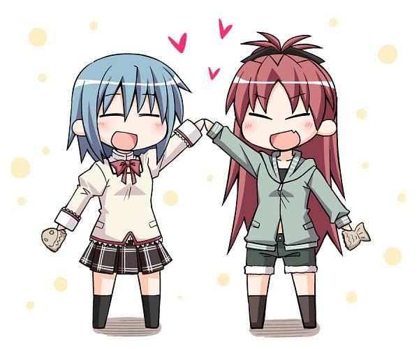 Tags: Anime, Nekotoufu, Mahou Shoujo Madoka☆Magica, Miki Sayaka, Sakura Kyouko