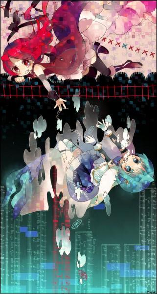 Tags: Anime, Maple (Cyakapon), Mahou Shoujo Madoka☆Magica, Sakura Kyouko, Miki Sayaka