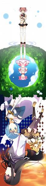 Tags: Anime, Suzushiro, Mahou Shoujo Madoka☆Magica, Kaname Madoka, Akemi Homura, Amy (Madoka Magica), Tomoe Mami, Miki Sayaka, Pixiv, Scan