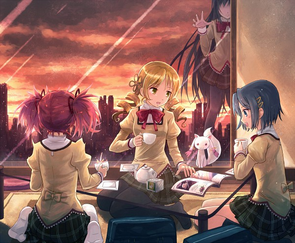 Tags: Anime, Yakka, Mahou Shoujo Madoka☆Magica, Kyubee, Tomoe Mami, Miki Sayaka, Kaname Madoka, Akemi Homura