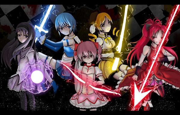 Tags: Anime, Krif, Mahou Shoujo Madoka☆Magica, Miki Sayaka, Kaname Madoka, Akemi Homura, Sakura Kyouko, Tomoe Mami