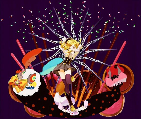 Tags: Anime, Gumidemo Kandero, Mahou Shoujo Madoka☆Magica, Charlotte (Madoka Magica), Kyubee, Tomoe Mami