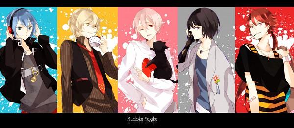 Tags: Anime, Mio (Artist), Mahou Shoujo Madoka☆Magica, Miki Sayaka, Kaname Madoka, Sakura Kyouko, Akemi Homura, Tomoe Mami, Pixiv, Fanart, Facebook Cover, Magical Girl Madoka Magica