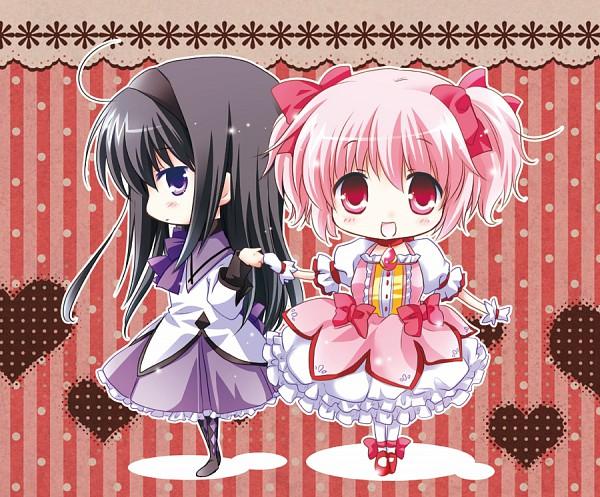 Tags: Anime, White-Brown, Mahou Shoujo Madoka☆Magica, Kaname Madoka, Akemi Homura