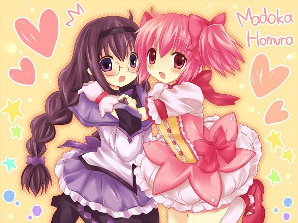 Tags: Anime, Pirika, Mahou Shoujo Madoka☆Magica, Kaname Madoka, Akemi Homura