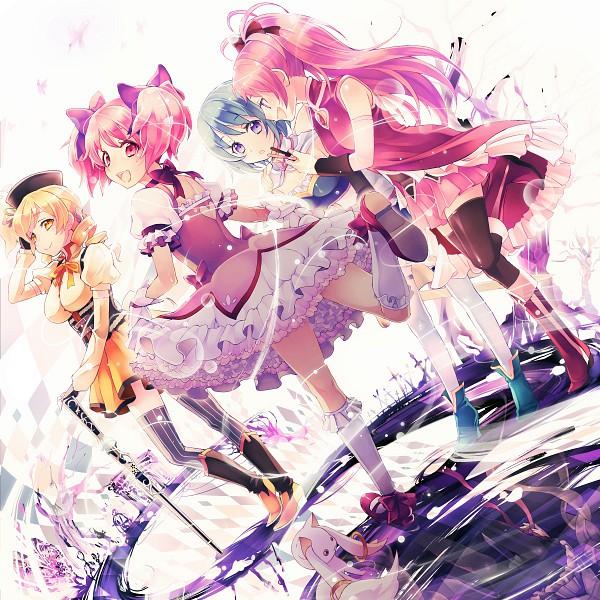 Tags: Anime, Nemusuke, Mahou Shoujo Madoka☆Magica, Tomoe Mami, Miki Sayaka, Kaname Madoka, Sakura Kyouko, Akemi Homura, Kyubee