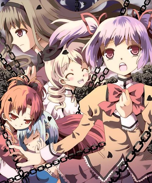 Tags: Anime, Hazakura Satsuki, Mahou Shoujo Madoka☆Magica, Tomoe Mami, Miki Sayaka, Kaname Madoka, Sakura Kyouko, Akemi Homura