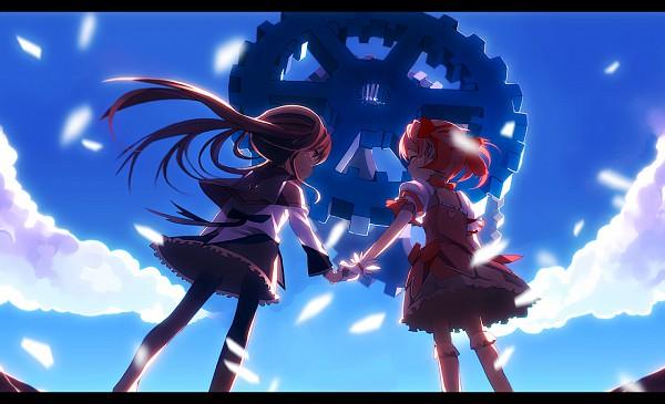 Tags: Anime, Hinata123, Mahou Shoujo Madoka☆Magica, Kaname Madoka, Akemi Homura