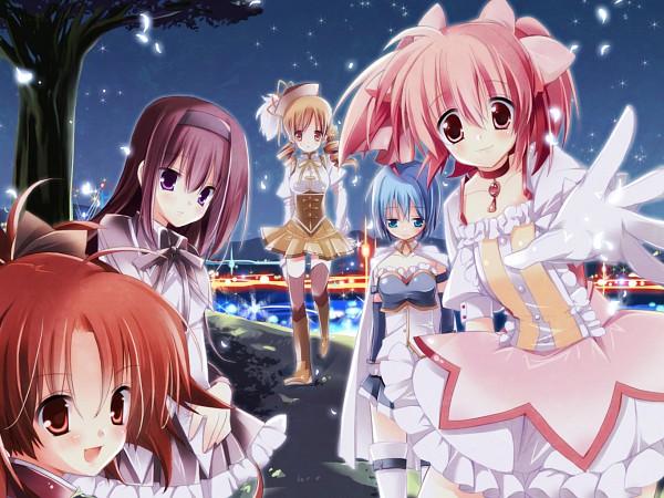 Tags: Anime, Mahou Shoujo Madoka☆Magica, Tomoe Mami, Miki Sayaka, Kaname Madoka, Akemi Homura, Sakura Kyouko