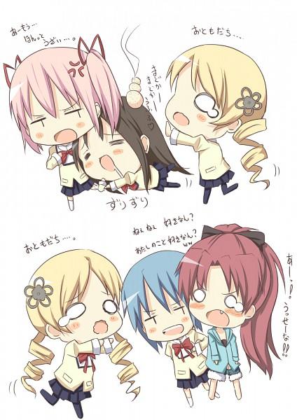 Tags: Anime, Darkside, Mahou Shoujo Madoka☆Magica, Akemi Homura, Sakura Kyouko, Tomoe Mami, Miki Sayaka, Kaname Madoka, Good Luck Tomoe Mami!