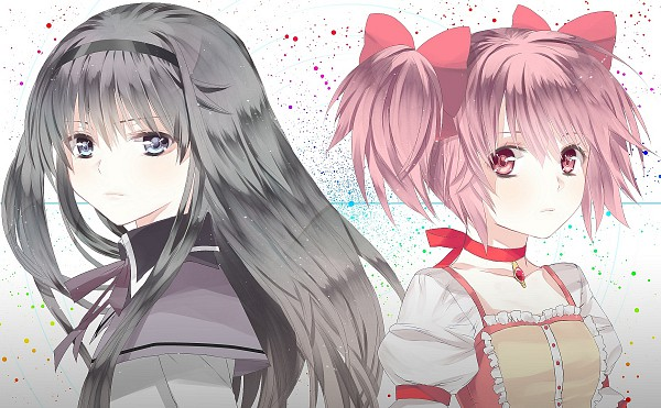Tags: Anime, Chirosuke, Mahou Shoujo Madoka☆Magica, Kaname Madoka, Akemi Homura