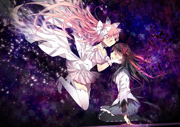 Tags: Anime, Domotolain, Mahou Shoujo Madoka☆Magica, Ultimate Madoka, Kaname Madoka, Akemi Homura