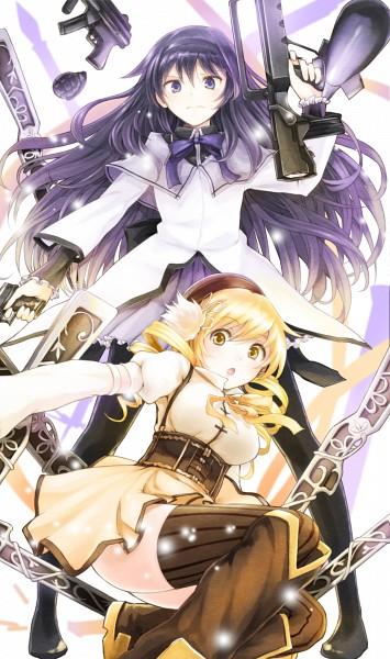 Tags: Anime, Hachi Shoku, Mahou Shoujo Madoka☆Magica, Tomoe Mami, Akemi Homura