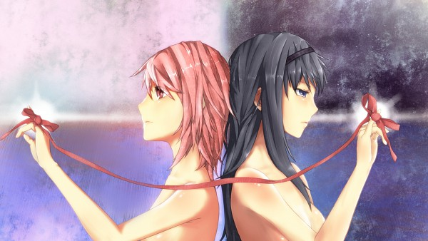 Tags: Anime, Koichi Uru, Mahou Shoujo Madoka☆Magica, Kaname Madoka, Akemi Homura, HD Wallpaper, Wallpaper
