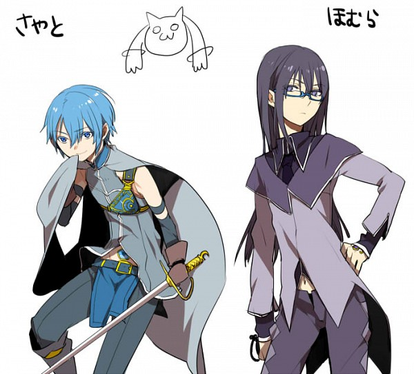 Tags: Anime, Kurono Yuu, Mahou Shoujo Madoka☆Magica, Miki Sayaka, Akemi Homura, Kyubee, Magical Boy, Pixiv, Fanart, Fanart From Pixiv, Magical Girl Madoka Magica