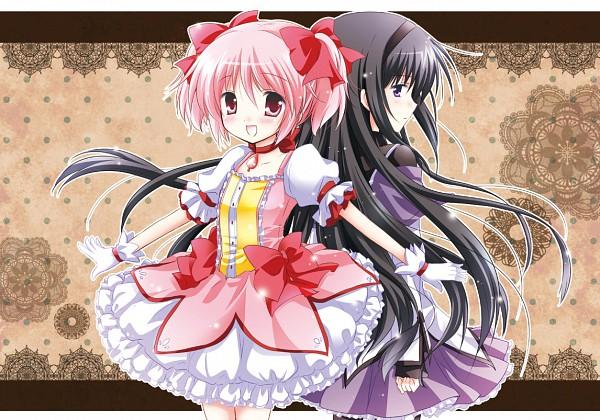 Tags: Anime, White-Brown, Mahou Shoujo Madoka☆Magica, Akemi Homura, Kaname Madoka