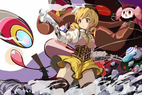 Tags: Anime, Blue Door, Mahou Shoujo Madoka☆Magica, Tomoe Mami, Charlotte (Madoka Magica), Shotgun