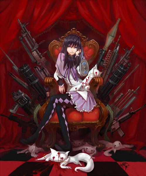 Tags: Anime, Kikira, Mahou Shoujo Madoka☆Magica, Kyubee, Akemi Homura