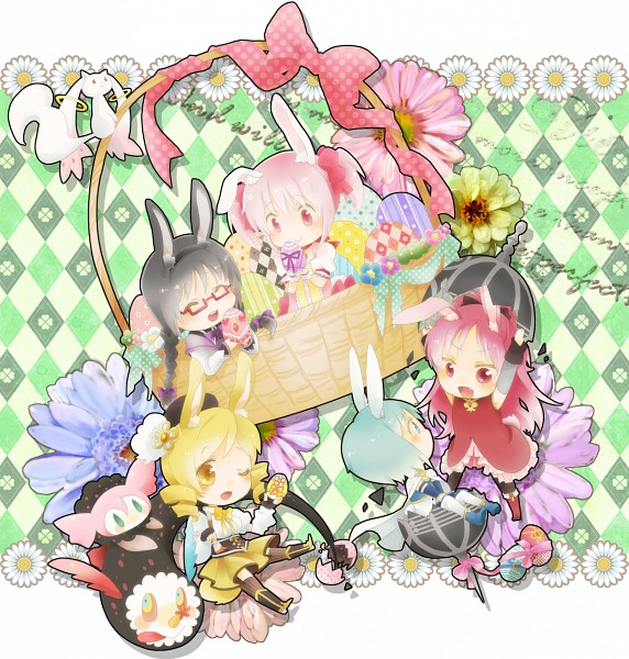 Tags: Anime, Izumi Kirifu, Mahou Shoujo Madoka☆Magica, Miki Sayaka, Sakura Kyouko, Kaname Madoka, Charlotte (Madoka Magica), Akemi Homura, Kyubee, Tomoe Mami