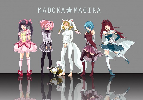 Tags: Anime, Pixiv Id 1208165, Mahou Shoujo Madoka☆Magica, Sakura Kyouko, Akemi Homura, Kyubee, Tomoe Mami, Miki Sayaka, Kaname Madoka, Kyubee (Cosplay), Sakura Kyouko (Cosplay), Tomoe Mami (Cosplay), Miki Sayaka (Cosplay), Magical Girl Madoka Magica