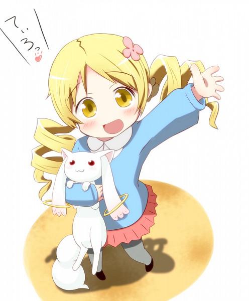 Tags: Anime, Yokoshima, Mahou Shoujo Madoka☆Magica, Kyubee, Tomoe Mami