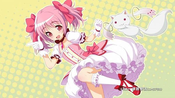 Tags: Anime, Tsuji Santa, Mahou Shoujo Madoka☆Magica, Kyubee, Kaname Madoka, Wallpaper