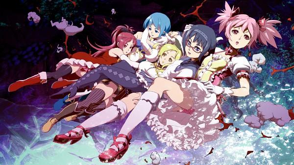 Tags: Anime, Pixiv Id 289865, Mahou Shoujo Madoka☆Magica, Tomoe Mami, Miki Sayaka, Kaname Madoka, Akemi Homura, Sakura Kyouko, Wallpaper, HD Wallpaper