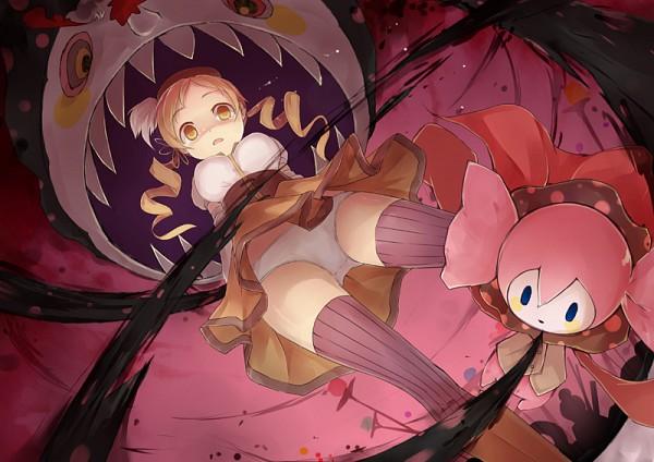 Tags: Anime, Fred04142, Mahou Shoujo Madoka☆Magica, Charlotte (Madoka Magica), Tomoe Mami, Pixiv, Fanart