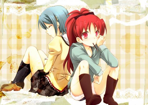 Tags: Anime, Mori Kouichirou, Mahou Shoujo Madoka☆Magica, Sakura Kyouko, Miki Sayaka, Magical Girl Madoka Magica