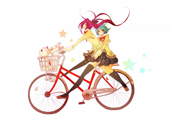 Tags: Anime, Mmco, Mahou Shoujo Madoka☆Magica, Miki Sayaka, Sakura Kyouko, Kyubee