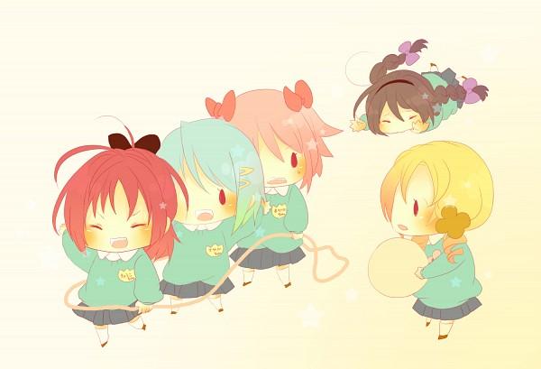 Tags: Anime, Mmco, Mahou Shoujo Madoka☆Magica, Kaname Madoka, Akemi Homura, Sakura Kyouko, Tomoe Mami, Miki Sayaka, Kindergarten, Fanart