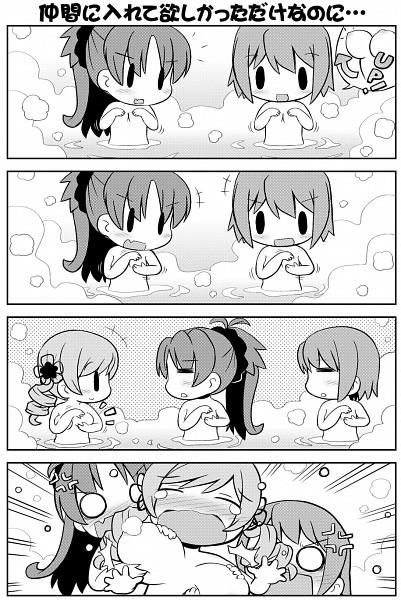 Tags: Anime, Gerotan, Mahou Shoujo Madoka☆Magica, Miki Sayaka, Sakura Kyouko, Tomoe Mami, Breast Envy, = =, Comic