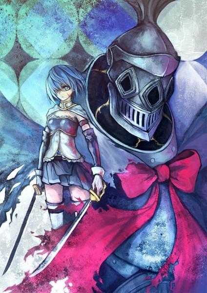 Tags: Anime, Haimerejzero, Mahou Shoujo Madoka☆Magica, Oktavia von Seckendorff, Miki Sayaka, Mobile Wallpaper, Magical Girl Madoka Magica