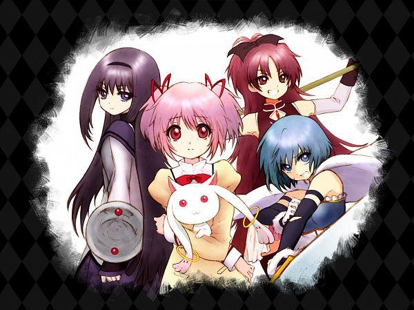 Tags: Anime, Ken (Flsk), Mahou Shoujo Madoka☆Magica, Miki Sayaka, Kaname Madoka, Akemi Homura, Sakura Kyouko, Kyubee, Puella Magi Madoka Magica