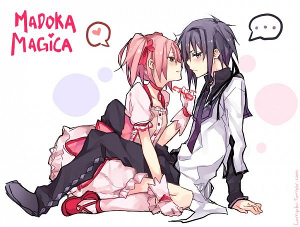Tags: Anime, Curryuku, Mahou Shoujo Madoka☆Magica, Kaname Madoka, Akemi Homura, Magical Boy, deviantART, Fanart, Fanart From Tumblr, Tumblr, Magical Girl Madoka Magica