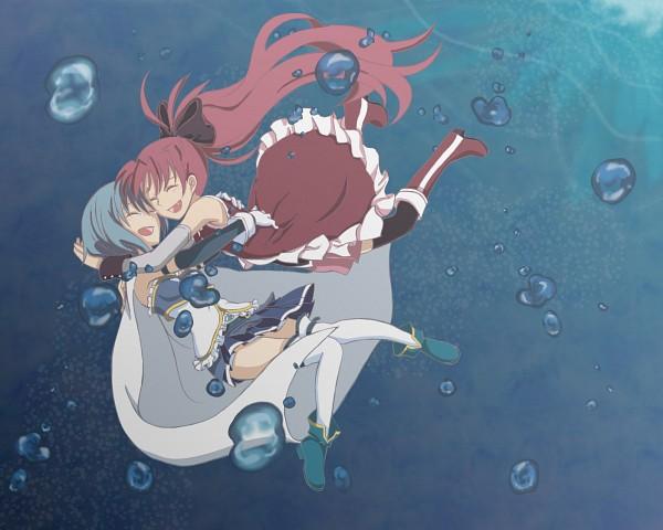 Tags: Anime, Yuuma (Pixiv771064), Mahou Shoujo Madoka☆Magica, Miki Sayaka, Sakura Kyouko, Pixiv, Fanart, Magical Girl Madoka Magica
