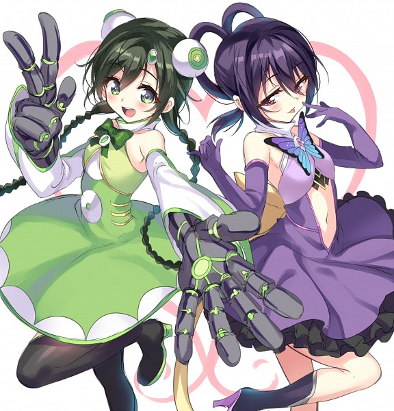 Tags: Anime, GAN (Shanimuni), Mahou Shoujo Suzune☆Magica, Hinata Matsuri, Hinata Kagari, Purple Handwear, Pixiv, Fanart, Fanart From Pixiv