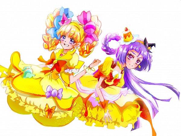 Tags: Anime, Fpminnie1, Mahou Tsukai Precure!, Izayoi Riko, Cure Magical, Asahina Mirai, Cure Miracle, 2048x1536 Wallpaper, Twitter, Wallpaper, Fanart, Topaz Style