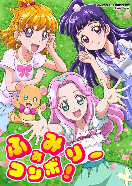 Tags: Anime, Pixiv Id 1059771, Mahou Tsukai Precure!, Mofurun, Asahina Mirai, Hanami Kotoha, Haa-chan, Izayoi Riko, Pixiv, Fanart, Fanart From Pixiv