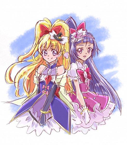 Tags: Anime, Fpminnie1, Mahou Tsukai Precure!, Asahina Mirai, Cure Miracle, Izayoi Riko, Cure Magical, Cure Magical (Cosplay), Cure Miracle (Cosplay), Fanart, Twitter