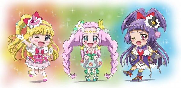 Tags: Anime, Pixiv Id 2917301, Mahou Tsukai Precure!, Cure Magical, Asahina Mirai, Hanami Kotoha, Cure Miracle, Cure Felice, Izayoi Riko, Fanart From Pixiv, Pixiv, Fanart