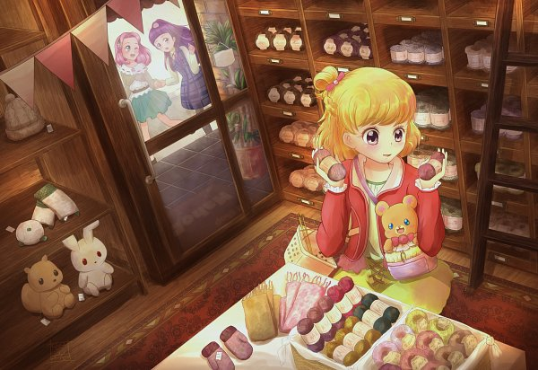 Tags: Anime, Pixiv Id 15259906, Mahou Tsukai Precure!, Mofurun, Asahina Mirai, Hanami Kotoha, Haa-chan, Izayoi Riko, Store, Fanart, Fanart From Pixiv, Pixiv