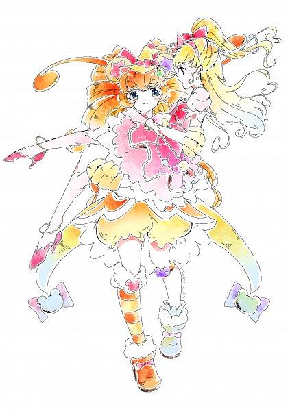 Tags: Anime, Pixiv Id 31449680, Mahou Tsukai Precure!, Cure Mofurun, Mofurun, Asahina Mirai, Cure Miracle, Fanart From Pixiv, Pixiv, Fanart