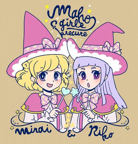 Tags: Anime, Satou Shioko, Mahou Tsukai Precure!, Izayoi Riko, Asahina Mirai, Twitter, Fanart